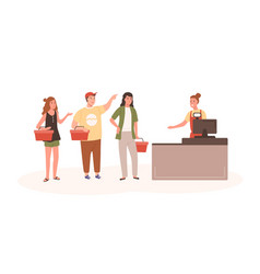 angry people at checkout flat vector image