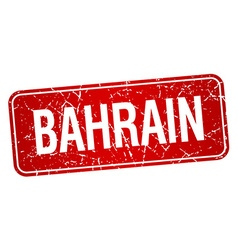 Bahrain red stamp isolated on white background vector