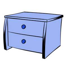Blue chest icon cartoon vector