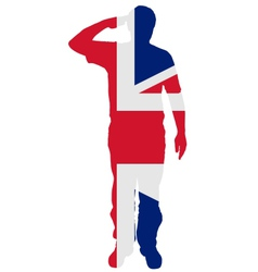 British Salute vector image