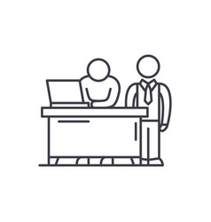 Business mentor line icon concept business mentor vector