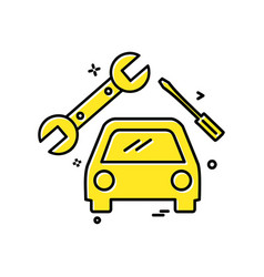 car workshop icon design vector image