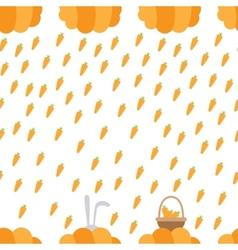 carrot rain vector image