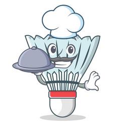 Chef shuttlecock character cartoon vector
