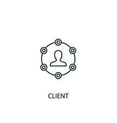 client concept line icon simple element vector image