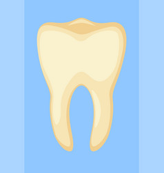 colorful cartoon dirty yellow tooth vector image