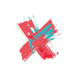 Colorful watercolor x vector