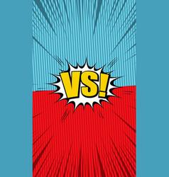 comic vs bright concept vector image