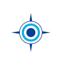 compass abstract logo icon concept vector image