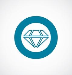 Diamond icon bold blue circle border vector