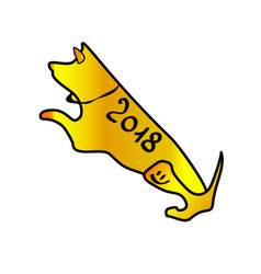 dog-a symbol year 2018 chinese year of the vector image