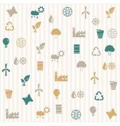 Environmental seamless pattern vector image