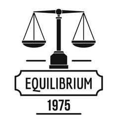 equilibrium logo simple black style vector image