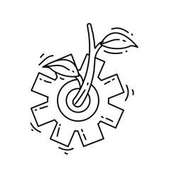 Farming agronomy icon hand drawn icon set outline vector