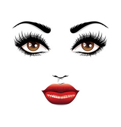 fashion fem face vector image