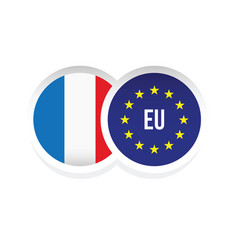France european union badge vector