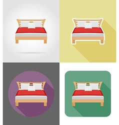 furniture flat icons 28 vector image