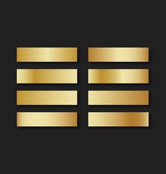 gold set of golden gradients vector image
