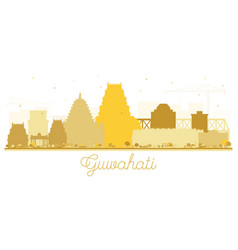 guwahati india city skyline silhouette with vector image