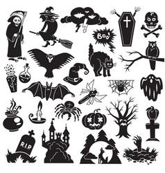 halloween icon set simple style vector image