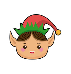 Happy merry christmas elf character vector
