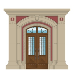 Image stone entrance of house vector