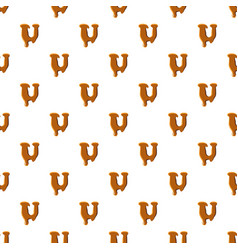 Letter u from caramel pattern vector