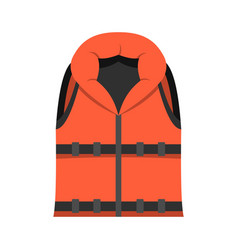 lifeguard vest icon flat style vector image