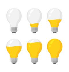light power bulbs indicator set energy vector image