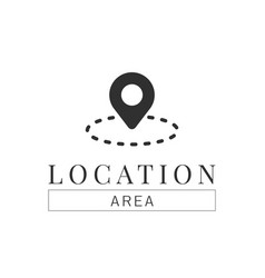 Location pin navigation logo template vector