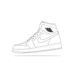 Nike air jordan 1 vector