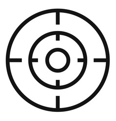 Old gun aim icon simple style vector