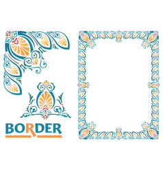Old world borders - tiled frame vector