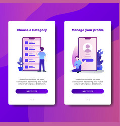 page template of choose a category vector image