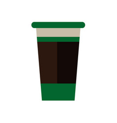 paper coffee cup portable fresh beverage vector image