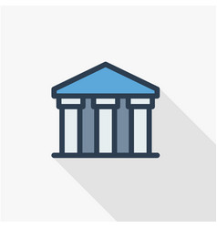 Public bank building university or museum vector