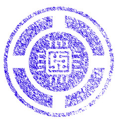 Roulette processor icon grunge watermark vector