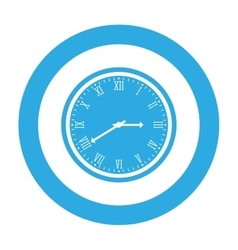 Round wall clock icon image vector