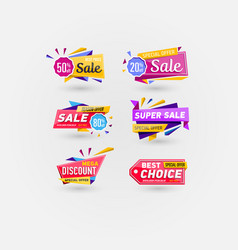 sale stickers isolated on white background vector image