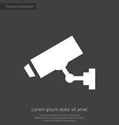 Security camera premium icon white on dark backgro vector