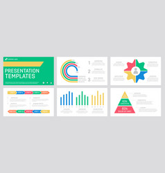 set red and green blue yellow elements vector image