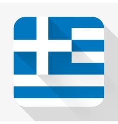 Simple flat icon Greece flag vector image