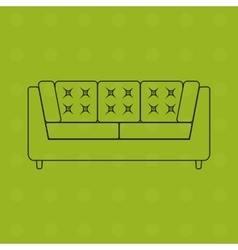 sofa in outline flat icons vector image
