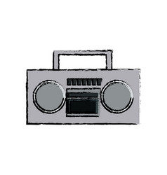 Stereo radio sound music device retro vector