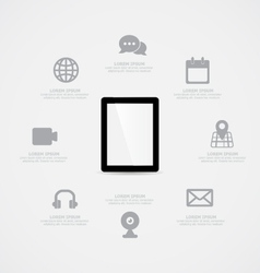 Tablet Information vector image