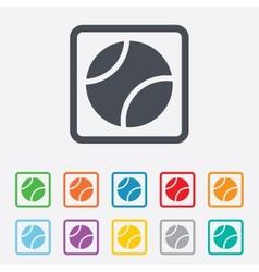 Tennis ball sign icon sport symbol vector