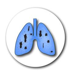 Tuberculosis emblem world tuberculosis day vector