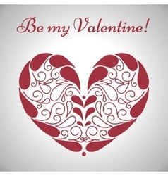 Valentines day ornamental heart vector