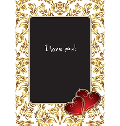 Valentines Photo Frame vector image
