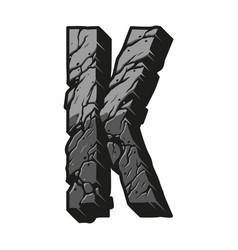 Vintage concept letter k vector
